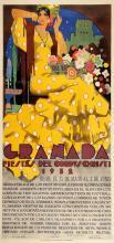 GRANADA - FIESTAS DEL CORPUS CHRISTI 1932 ORIGINAL VINTAGE SPAIN POSTER BY ESTERA