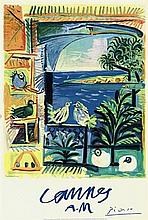 PABLO PICASSO CANNES AM ORIGINAL VINTAGE TRAVEL POSTER 1961