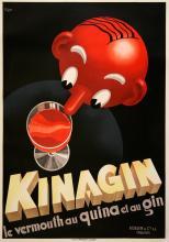 KINAGIN - ORIGINAL VINTAGE POSTER BY PATKE CIRCA 1930