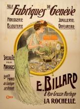 FABRIQUES DE GENEVE ORIGINAL VINTAGE POSTER BY HEM 1922