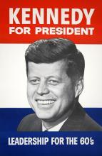 KENNEDY FOR PRESIDENT 1960 ORIGINAL VINTAGE POSTER