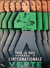 L'INTERNATIONALE VERTE - ORIGINAL VINTAGE POSTER BY JEAN CARLU CIRCA 1935
