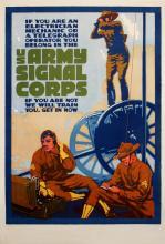 U.S. ARMY SIGNAL CORPS ORIGINAL VINTAGE POSTER WORLD WAR I