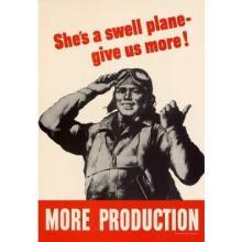SHE'S A SWELL PLANE ORIGINAL VINTAGE POSTER WORLD WAR II