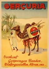 GERCURIA ORIGINAL VINTAGE POSTER WITH CAMEL