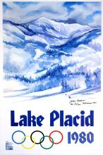 LAKE PLACID WINTER OLYMPICS1980 - SIGNED AND NUMBERED LIMITED EDITION ORIGINAL VINTAGE POSTER