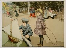 JARDIN DE LUXEMBOURG ORIGINAL VINTAGE POSTER BY ABEL TRUCHET