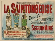 LA SAINTONGEOISE ORIGINAL VINTAGE POSTER CIRCA 1915