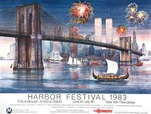 NEW YORK HARBOR FESTIVAL - 1983 ORIGINAL VINTAGE POSTER