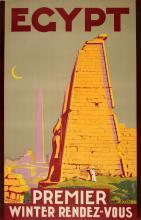 EGYPT - PREMIER WINTER RENDEZ-VOUS ORIGINAL VINTAGE POSTER