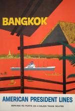 AMERICAN PRESIDENT - BANGKOK ORIGINAL VINTAGE POSTER