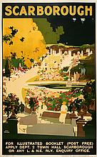 SCARBOROUGH  BY FRED TAYLOR - RARE -  ORIGINAL VINTAGE POSTER