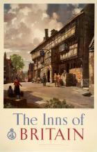 THE INNS OF BRITAIN ORIGINAL VINTAGE POSTER