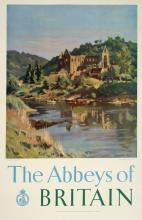 THE ABBEYS OF BRITAIN ORIGINAL VINTAGE POSTER