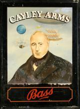 ORIGINAL VINTAGE PUB SIGN - CAYLEY ARMS BASS
