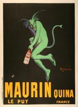 MAURIN QUINA - GREEN DEVIL ORIGINAL VINTAGE POSTER BY LEWONETTO CAPPIELLO 1906
