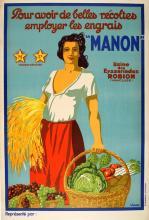 MANON ORIGINAL VINTAGE POSTER