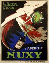 NUXY ORIGINAL VINTAGE POSTER BY FAVRE