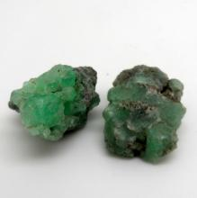 46 CTS LOT OF ROUGH EMERALD PIECES