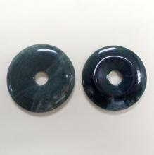 46 MM LOT OF GREEN AGATE DONUTS PIECES