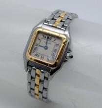CARTIER PANTHERE MINI 22MM ONE ROW 18K YELLOW GOLD / SS WATCH