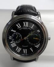 RAYMOND WEIL MAESTRO BLACK DIAL BLACK LEATHER AUTOMATIC MEN?S WATCH 2846