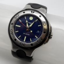 MOVADO SERIES 800 STAINLESS STEEL ON RUBBER MEN?S WATCH- 84 C2 1895 - 42MM