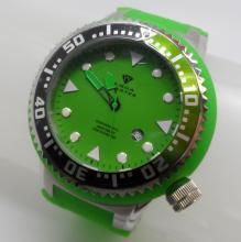 AQUAMASTER PROFESSIONAL - AQUA SERIES - CHRONOMETER - GREEN RUBBER  - QUARTZ WATCH - 52 MM