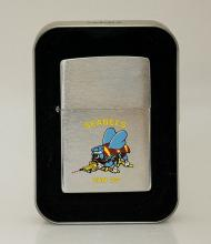 COLLECTIBLE GENUINE ZIPPO LIGHTER SEABEES MADE IN U.S.A #15910