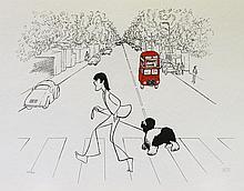 Paul McCartney, by Al Hirschfeld