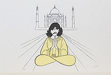 George Harrison, by Al Hirschfeld