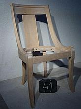 Suite de trois chaises style Consulat, hêtre, à do