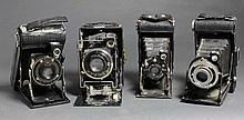 4 Foldings Années 40 - En l'état :  - Kodak 6x6