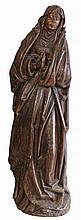 Grande sculpture en chêne représentant la Vierge, fin 18e siècle, H. 124 cm