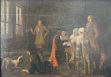 Atelier d'HOREMANS école hollandaise du 17e siècl