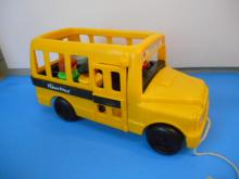 Vintage Fisher Price Bus with Little People
