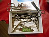 Assortment of early scissors and bottle Openers