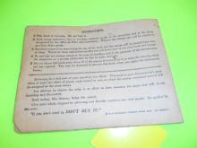 Fuel Ration Coupons