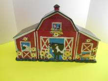 3 Piece Barn Yard Scene Cookie Jar