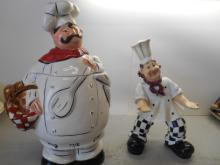 Fat Chef Cookie Jar and Pizza Man