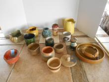 Assortment of Clay Pottery and Stoneware