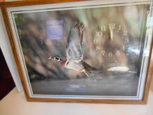 Framed Duck Picture Clock