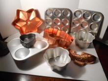 Assortment of Molds and Pans