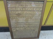 Picture - Needlepoint - Research says it's a Sampler - from the 1800's - Date on Picture says April 1833 -