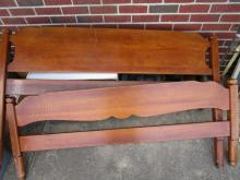 Full Size Bed with Rails - Made by S. Kann & Sons - Washington, DC - LOCAL PICKUP ONLY