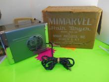 Vintage Mimarvel Hair Dryer in Orig. Box