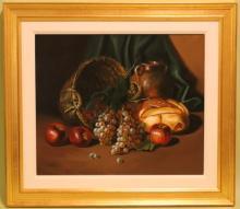 Oil on  Canvas, Still Life w/Fruit