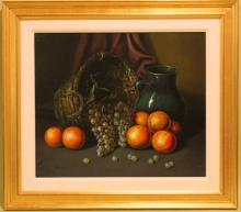 Oil on Canvas, Still Life w/Fruit
