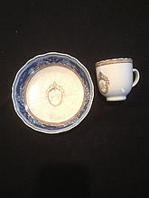 Cup and saucer, two items together