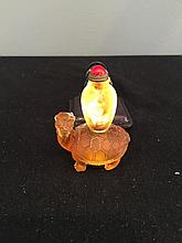 Antique peking glass snuff bottle
